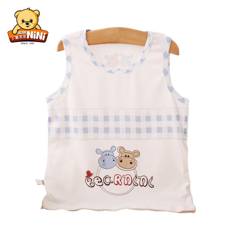 夏季新款儿童跨栏背心 婴幼儿竹纤维工字背心男女宝宝新生儿衣服