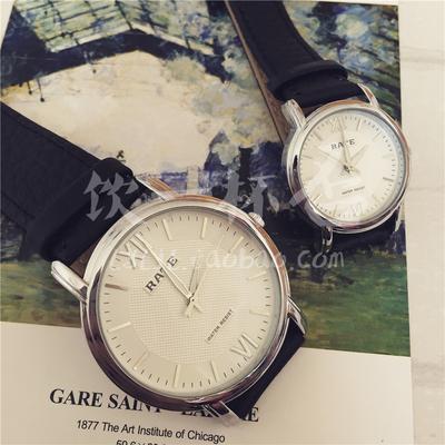 [折扣就两天] 时留。银白 包邮日式森系复古文艺风情侣手表 清新皮带男女款手表