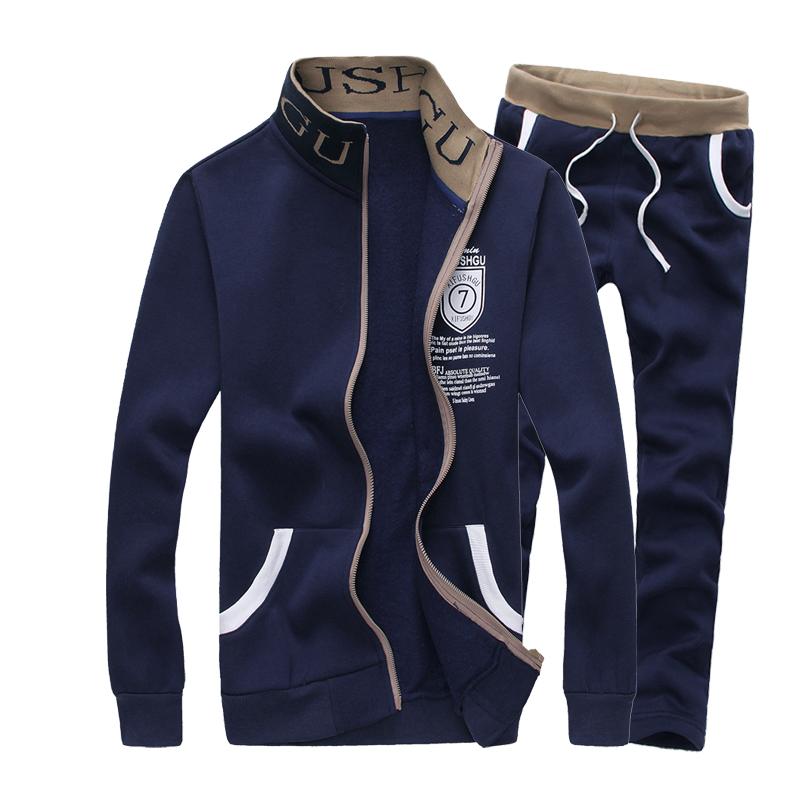 -2015春装新款卫衣男套装卫衣男拉绒模特男装