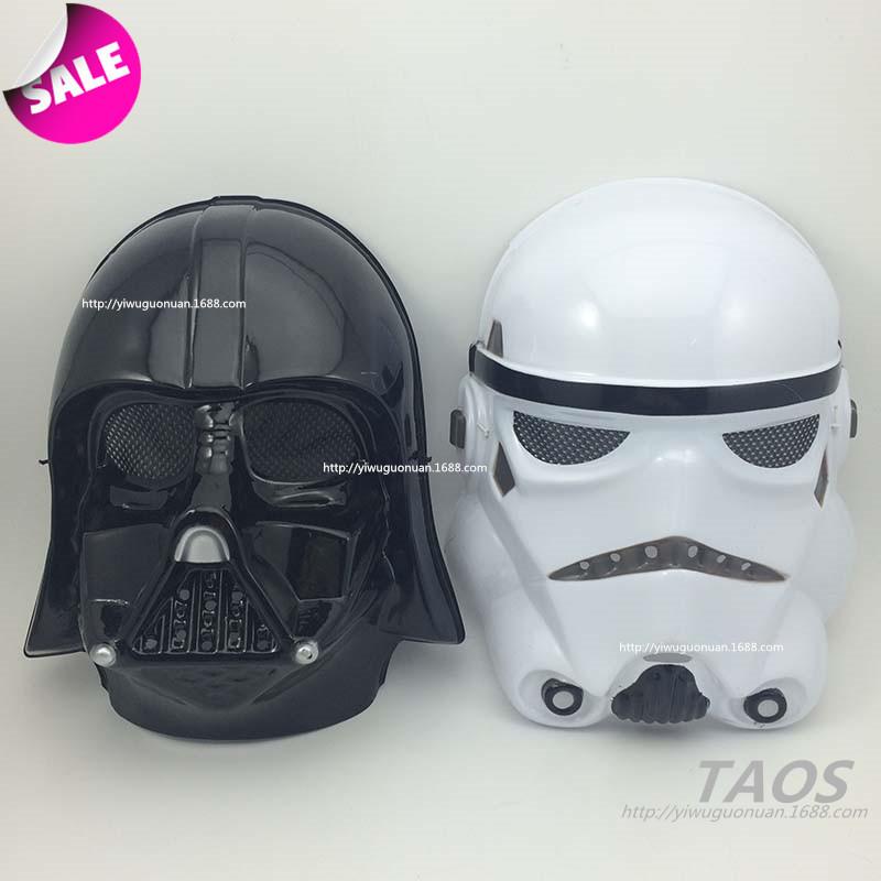 StarWars角色星球大战头盔 白色帝国克隆人士兵cosplay黑武士面具