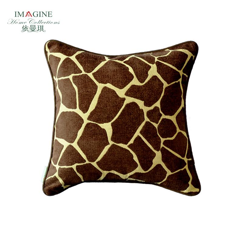 依曼琪 美式高档 布艺抱枕 样板间 沙发靠垫含芯 护腰办公室靠垫