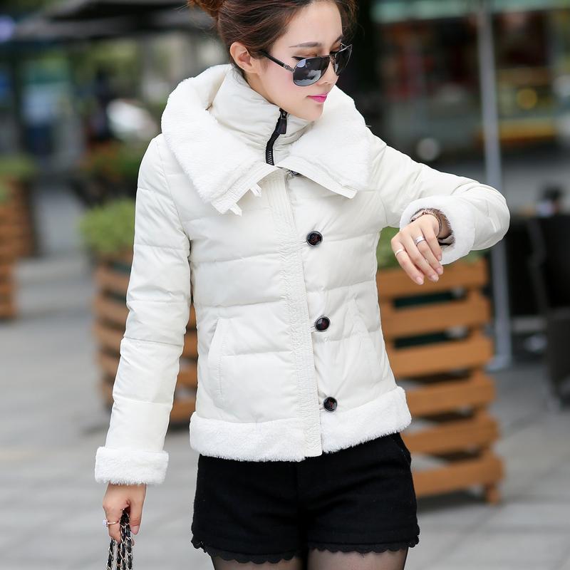 2014冬季女装新款韩版修身加厚保暖小时代明星杂志短款羽绒服Y991
