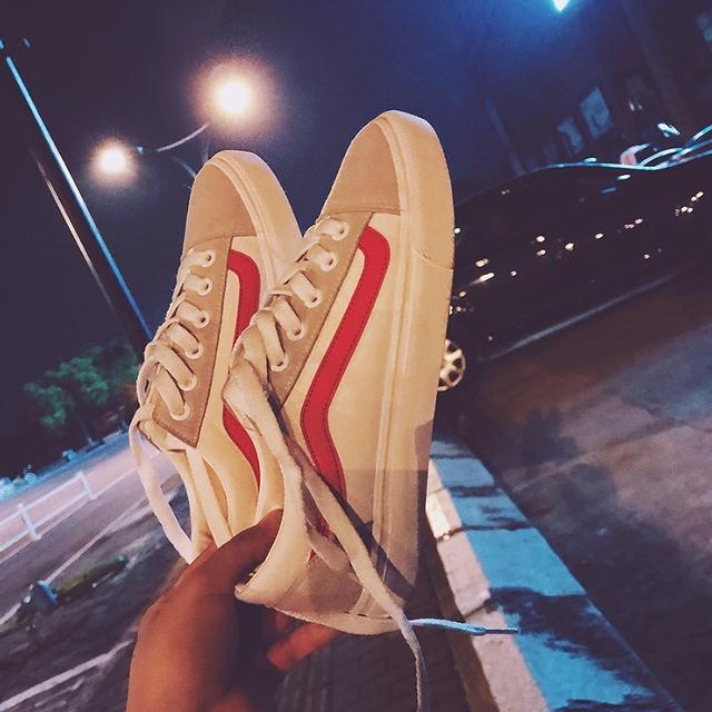 女夏季2017新款 港风板鞋 原宿街拍帆布鞋 百搭休闲学生韩版 小白鞋
