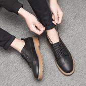 2017新款春季韩版潮流男鞋子潮鞋男士休闲鞋增高板鞋百搭英伦皮鞋