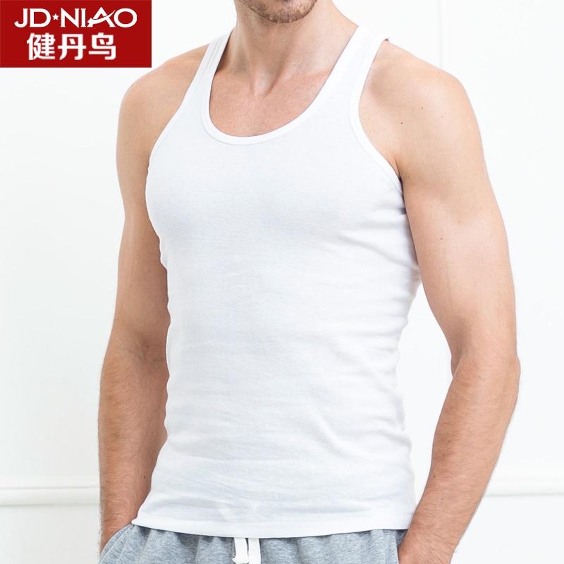 健丹鸟男士背心 运动棉质背心男马甲 春夏季韩版宽松汗无袖打底