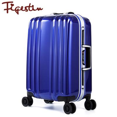 菲格斯顿铝框拉杆箱万向轮旅行箱包行李箱登机箱男女用潮20寸24寸
