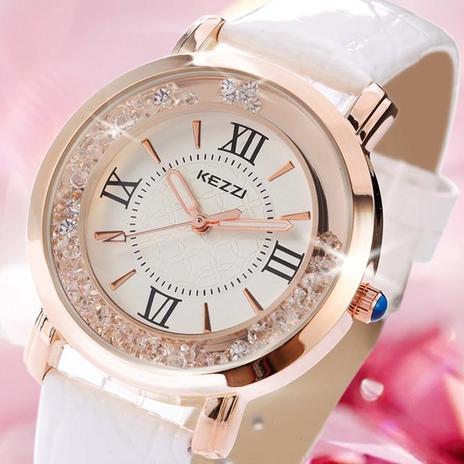 手表女皮带韩国潮流时尚水钻女腕表石英表休闲气质时装表学生手表