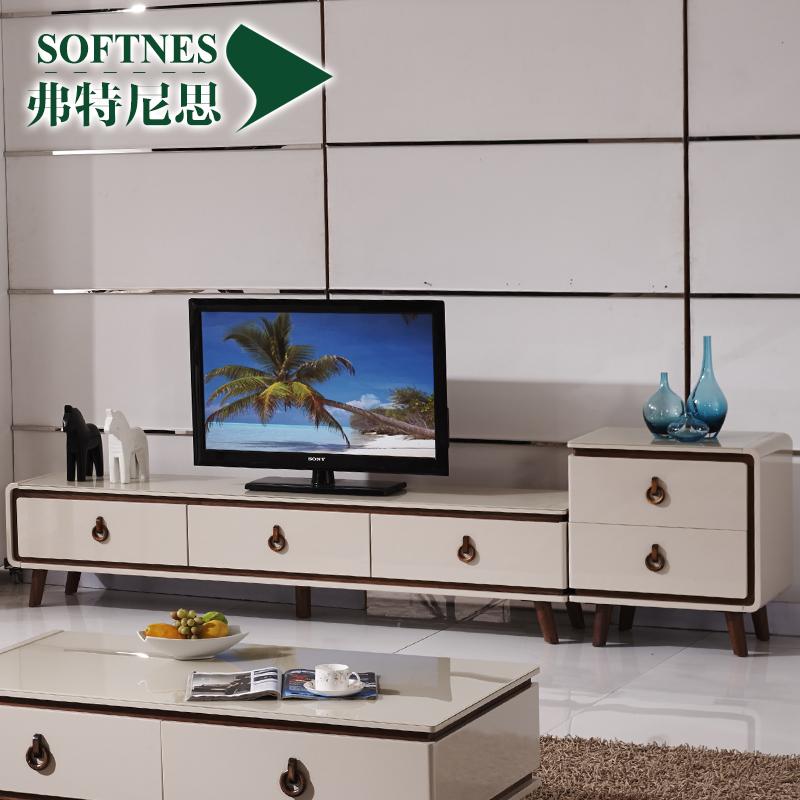 弗特尼思 钢化玻璃电视柜现代烤漆电视机柜客厅家具