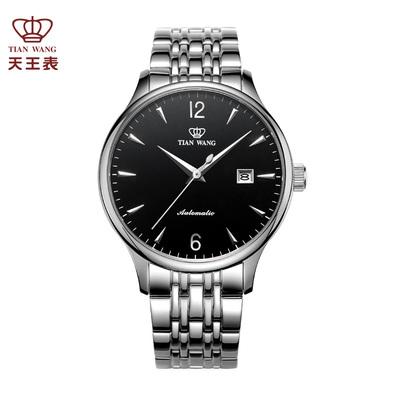 天王表正品男表防水全自动机械表 钢带男士手表潮流休闲腕表5845