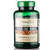 美国进口普丽普莱亚麻籽油软胶囊冷榨120粒 多种不饱和脂肪酸