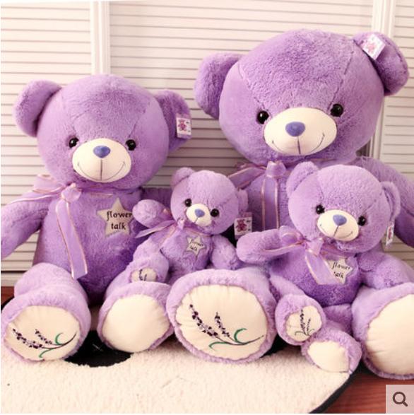 薰衣草小熊公仔 泰迪熊抱抱熊毛绒玩具娃娃 生日礼物包邮