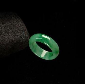 翡翠 满绿 戒指 冰糯种 A货 玉戒