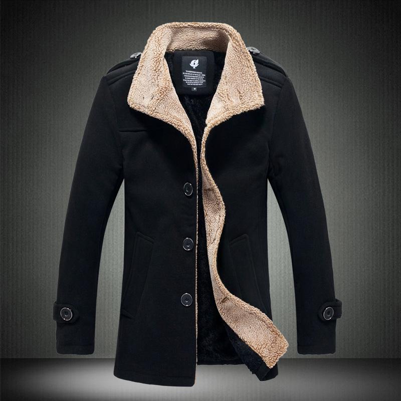 2015春装新款立领羊羔毛男呢料夹克外套男装