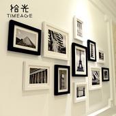 照片墙简约现代相框墙黑白创意组合欧式相片墙客厅相框挂墙可定制