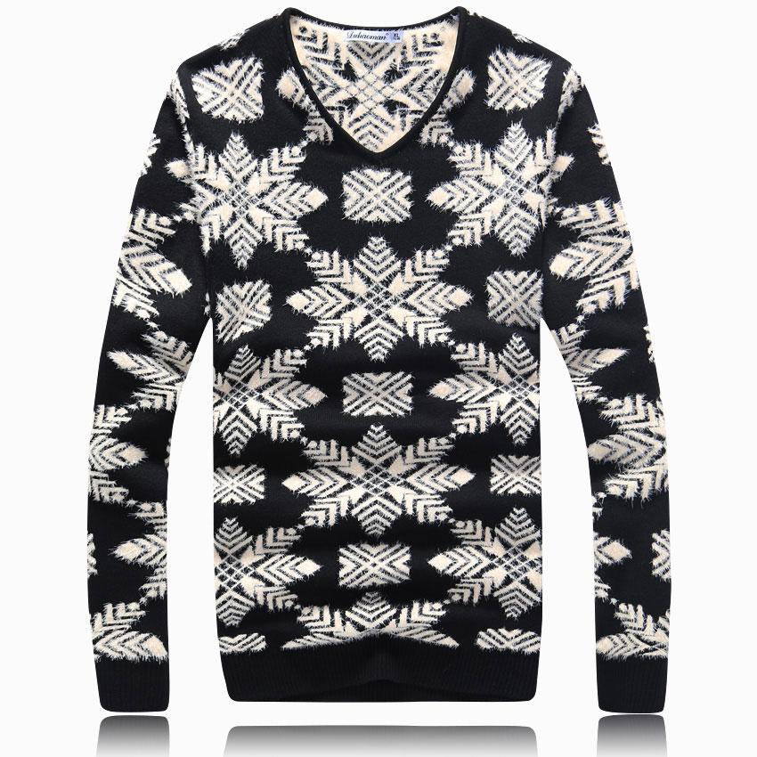 2014秋冬男士加厚针织衫男V领套头高档线衫男加厚毛衣潮男装上衣