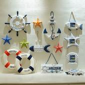地中海风格装饰品墙上壁饰挂饰海星船舵渔网帆船家装饰品墙面装饰