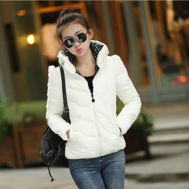 【今日特卖】韩版女装修身保暖羽绒服短款棉服女 大码棉衣外套女