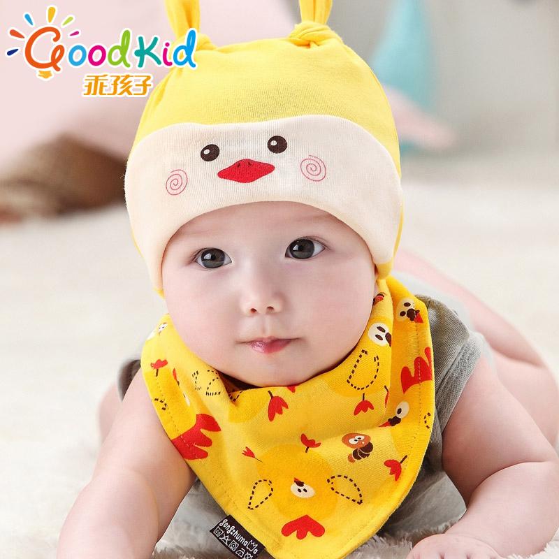 宝宝韩版时尚棉质胎帽柔软可爱透气