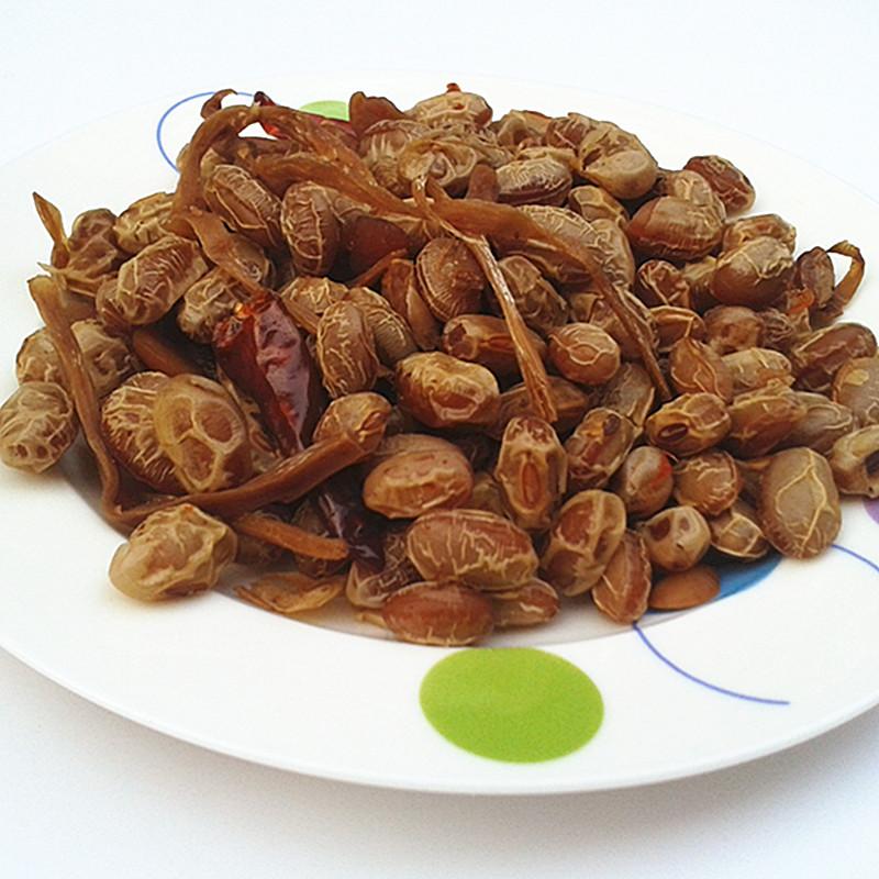 安徽特产黄山豆豉 农家香辣黄豆 笋丝茴香豆干 真空包装休闲零食