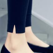 打底裤七分2017新款女裤韩版百搭外穿九分薄款铅笔裤夏季黑小脚裤