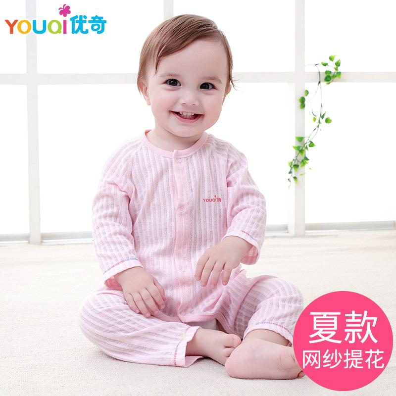 純棉幼兒紗布連體新生兒寶寶衣服夏裝睡衣春秋嬰兒夏季