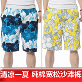 速干大裤 衩男 男加大码 五分裤 纯棉宽松休闲花短裤 潮夏季沙滩裤