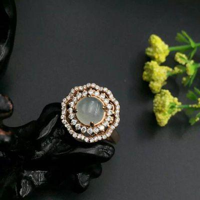 大印珠宝云南民族饰品 925银饰镶嵌翡翠戒指女式手饰戒面蛋面特价