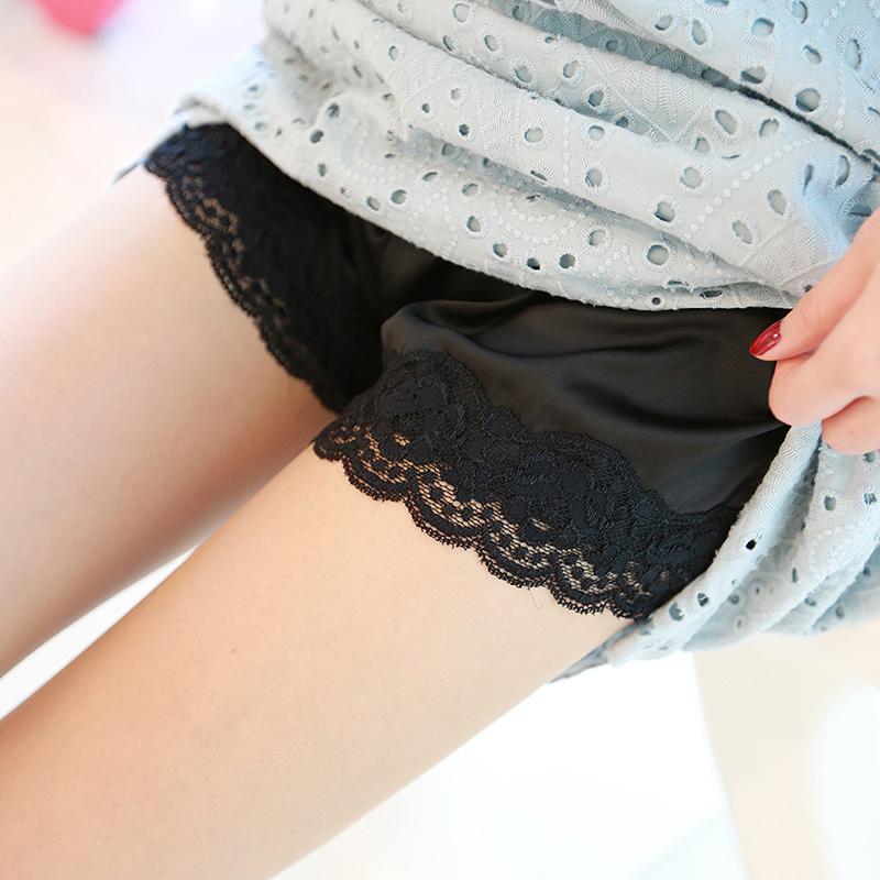 安全三分底裤走光女丝滑女夏薄款Q90短裤蕾丝