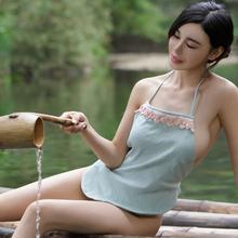 情趣肚兜式睡衣女士性感成人套内衣诱惑骚古代宫廷透明吊带民族风