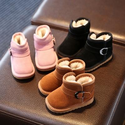 秋冬季小宝宝鞋婴儿软底学步鞋0-1岁2-3男女童加绒棉鞋幼儿雪地靴
