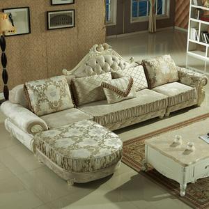欧式沙发 现代客厅布艺沙发转角沙发