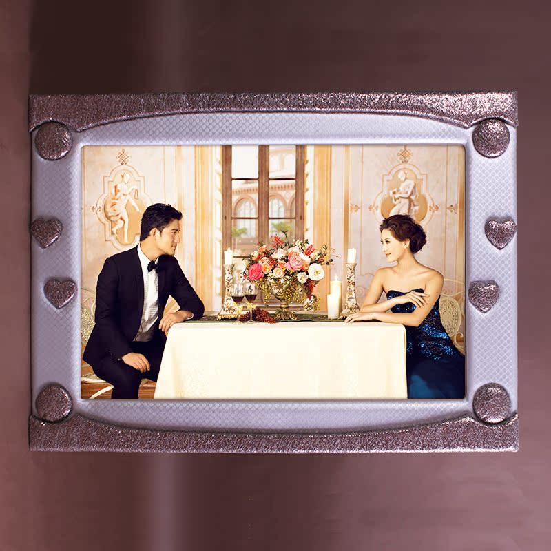 欧式挂墙相框婚纱照大相框 拼图画框 儿童写真相片框家居创意相框