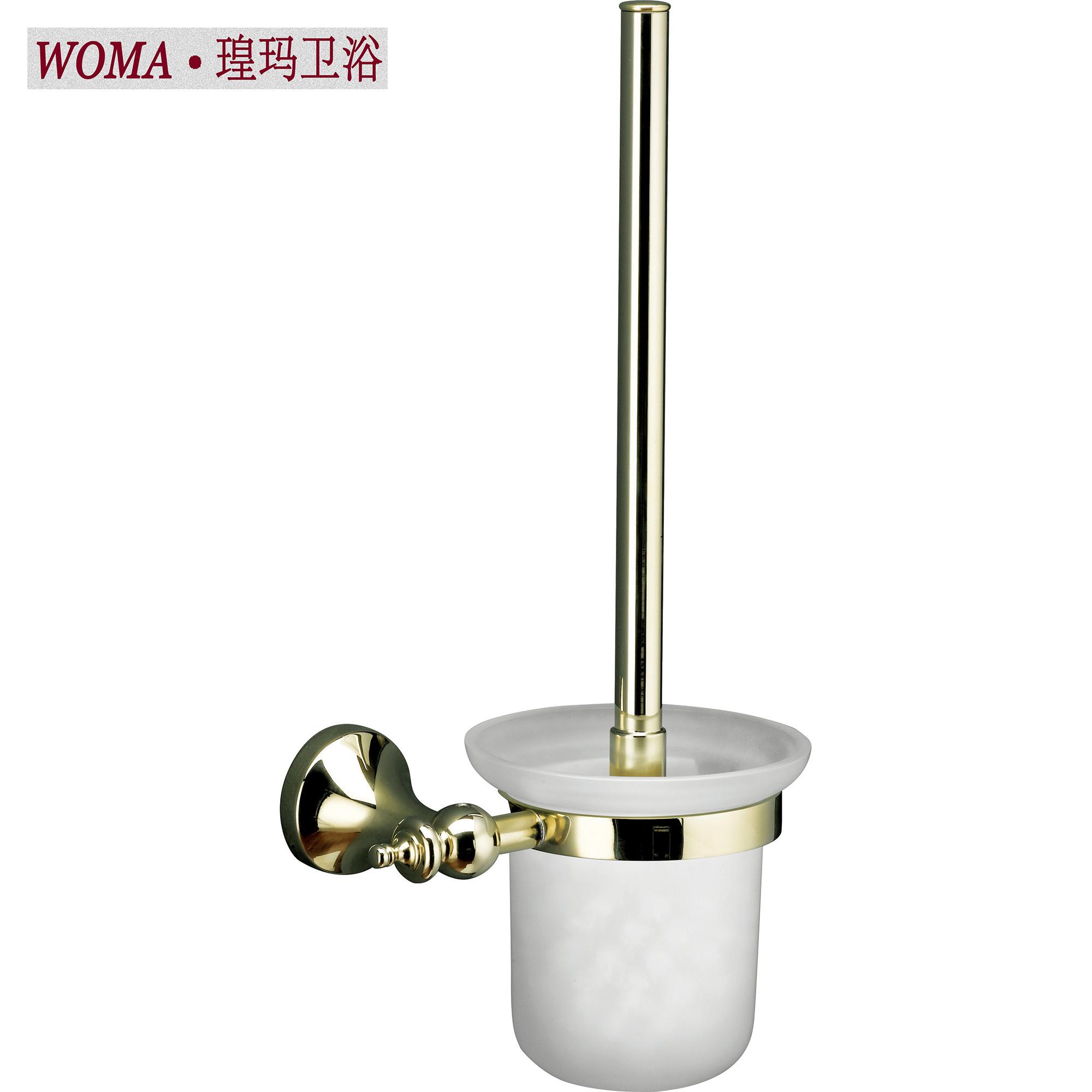 WOMA/瑝玛 纯铜金色马桶刷 厕所卫生间马桶刷架 卫浴挂件 WG115