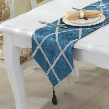 简约现代桌旗条纹亮丝闪时尚品质