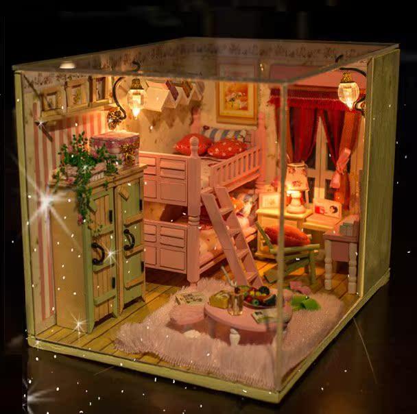 diy小屋 我和我的小伙伴们 手工制作家居模型 创意生日礼物送女友