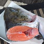 【宅鲜配】新鲜三文鱼头鱼头500g 煲汤剁椒烧烤样样适合
