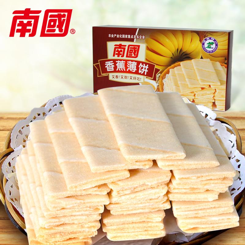 南国香蕉薄饼80g x 6 薄脆饼干 椰子饼休闲零食小吃 早餐