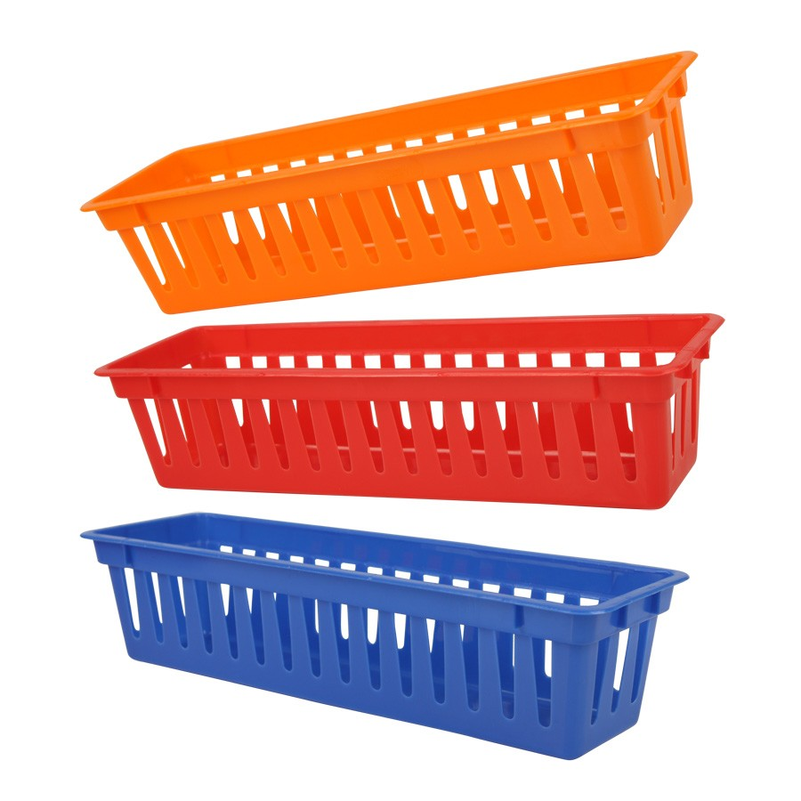 多用功能塑料收纳套三长方形小篮子家庭厨房生活日用品6个HH20257