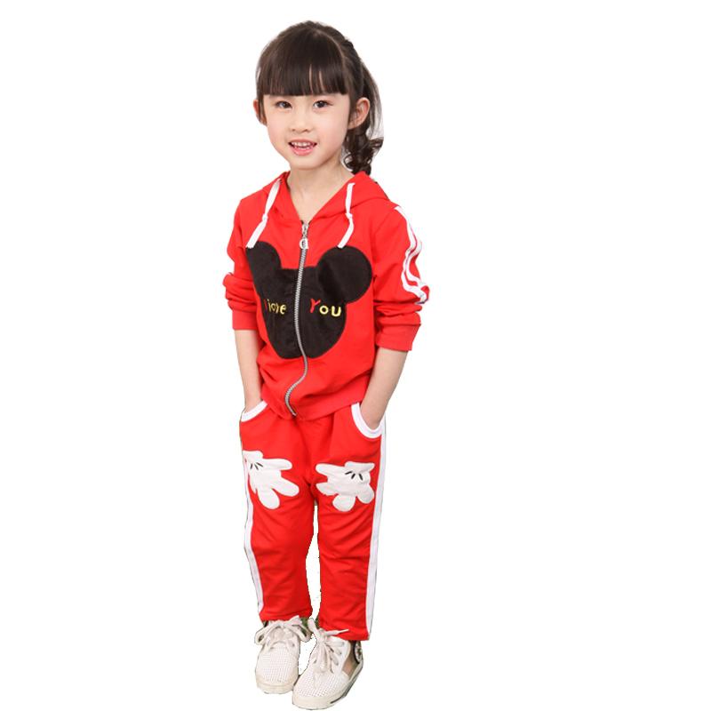 欧雅姬2015春款中小童男女童可爱时尚大头米奇套装