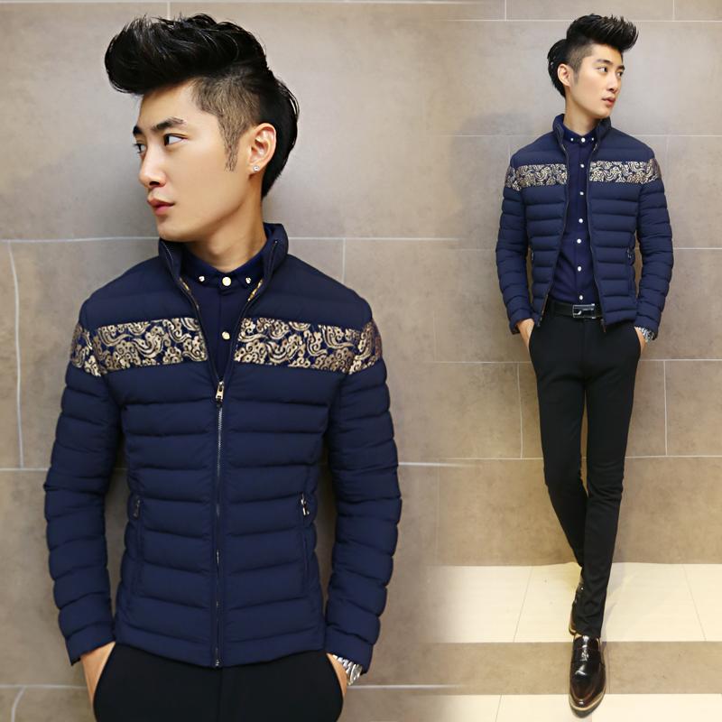 男士短款棉衣冬装新款男装外套韩版立领棉服加厚潮男刺绣修身棉袄