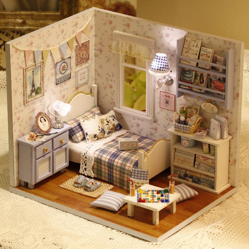 手工diy小屋 阳光满溢 创意拼装模型房间 浪漫情侣节日礼物送女友