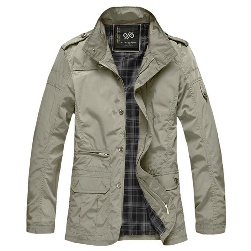 男士夹克 2014秋季新款 纯棉修身中长款加肥加大码外套男装上衣服