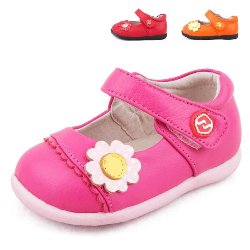 正品斯乃纳2014秋款 女童鞋 宝宝羊皮防滑学步鞋子单鞋 SP146012