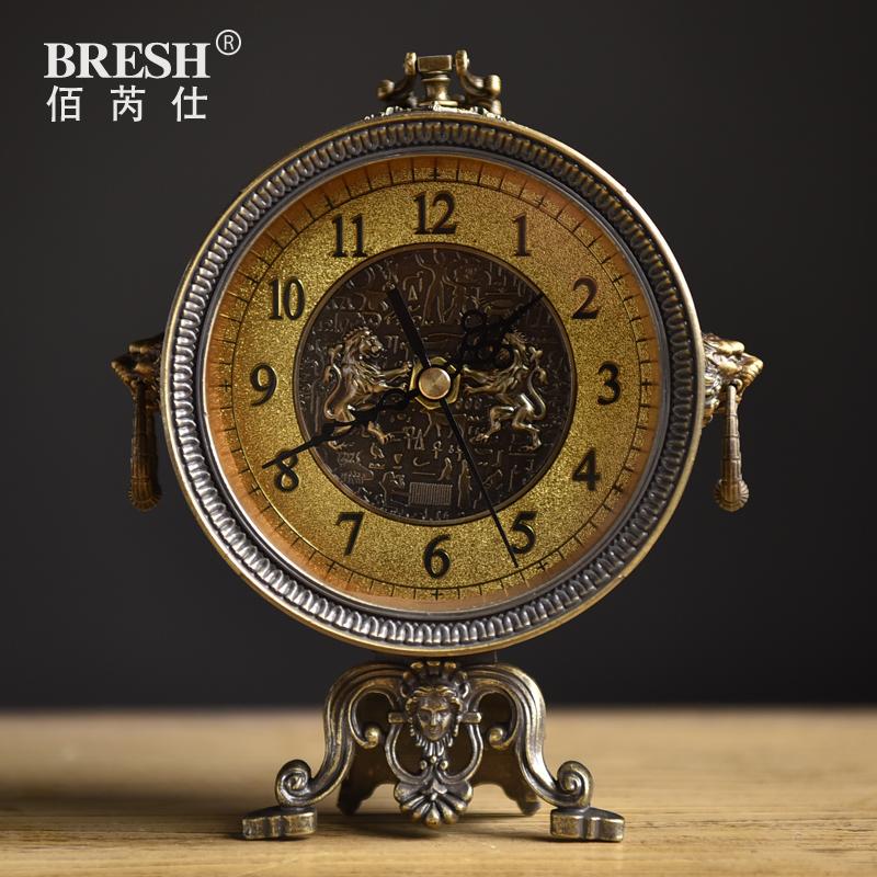 包邮欧式复古坐钟创意时尚客厅静音座钟仿古时钟表钟