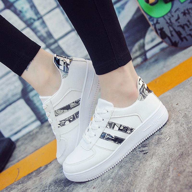运动鞋女学生女鞋底板鞋子休闲鞋百搭韩版小白鞋春季