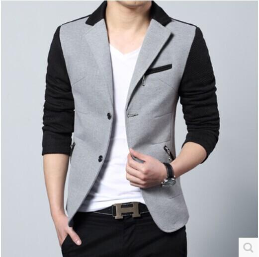卡宾剪标正品2014秋季新款薄男装便西服休闲修身男士西装外套GXG