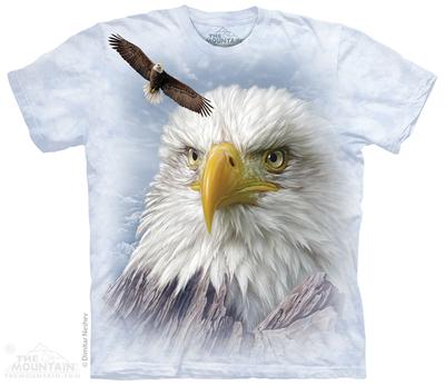 [特价促销] 美国代购TheMountain白色T恤白头鹰短袖纯棉夏季男款