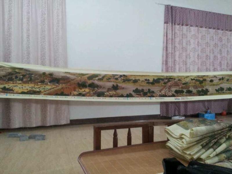 纯手工十字绣成品 清明上河图 6米新款大幅绣好的低价出售