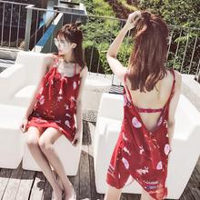 泳衣女三件套韩国温泉小香风 比基尼性感聚拢裙式保守遮肚游泳衣