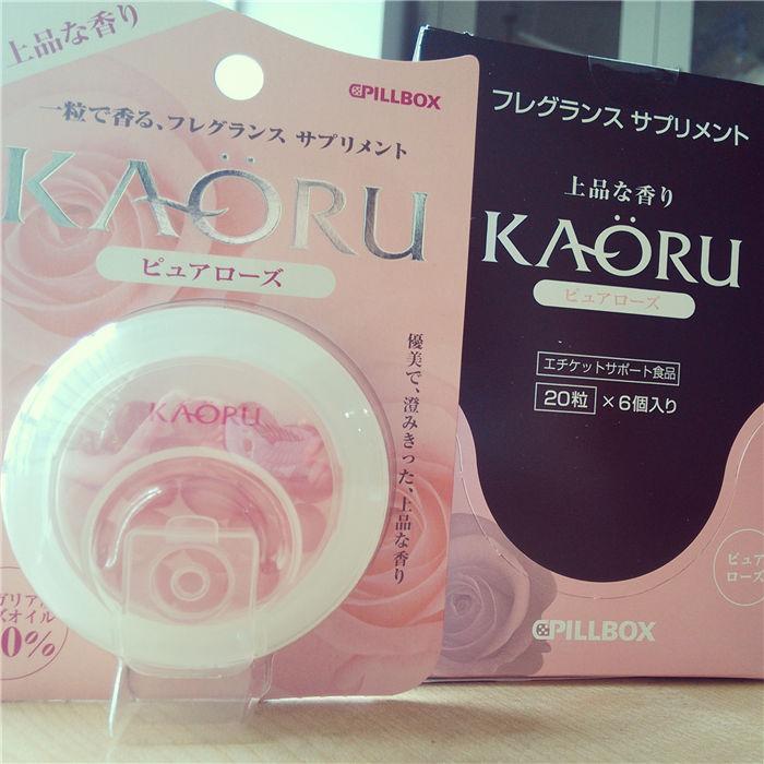 日本KAORU口服玫瑰精油胶囊香体糖女士香体丸